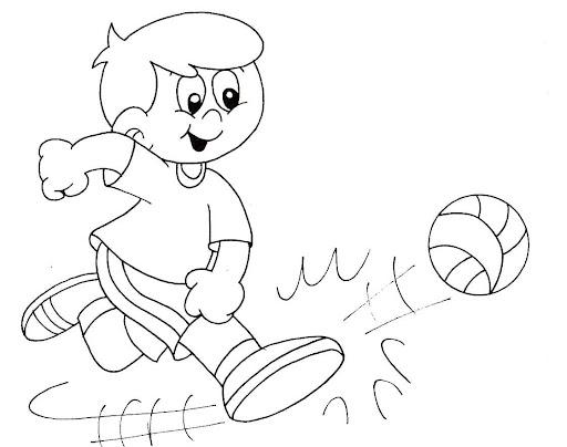 Dibujos de niños realizando deportes para colorear - Imagui
