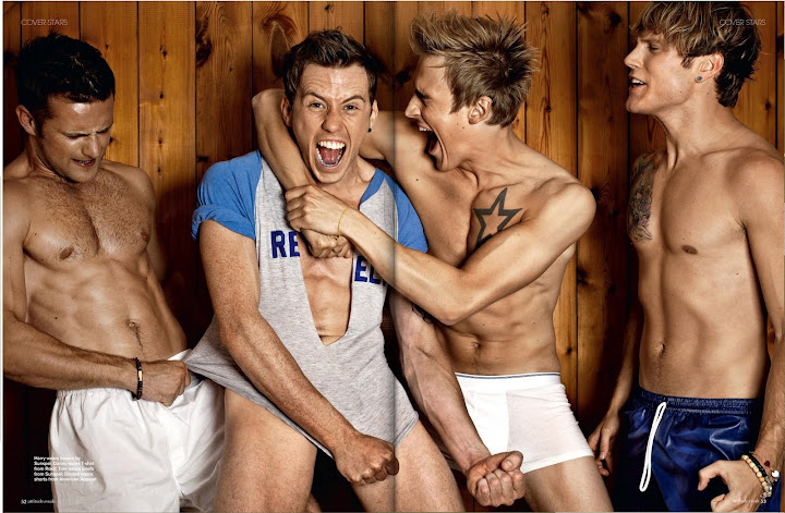 taken all their clothes off for August's issue of Attitude magazine.