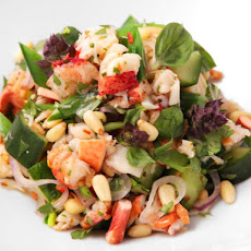 Thai-Style Lobster and Herb Salad with Snap Peas and Salted Cucumber