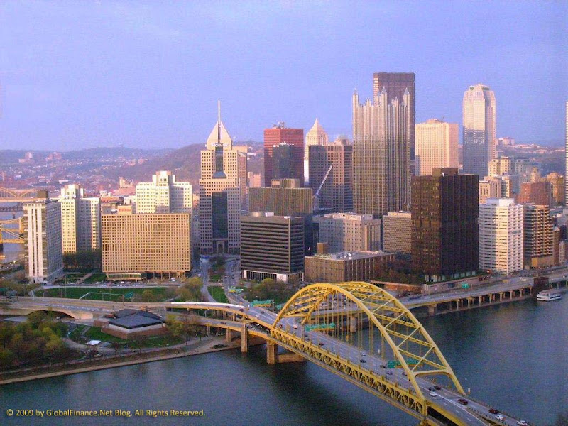 Pittsburgh skyline by GlobalFinance.Net