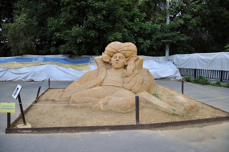 Песчаная скульптура в Сокольниках