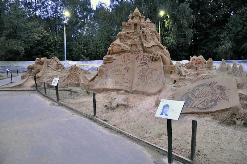 """Песчаная скульптура """"Мир сказки"""" в Сокольниках"""