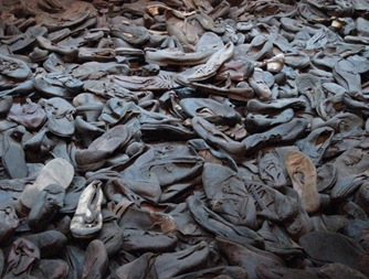 Holocaust Museum room of shoes