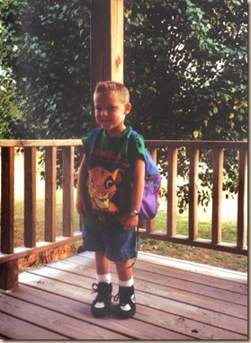 First Day of Kindergarten 1994-95 Fester