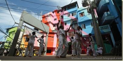Repeindre les favela, Santa Marta, Brésil-4