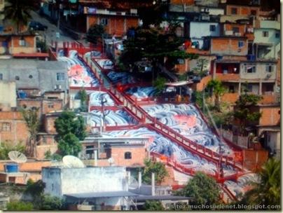 Repeindre les favela, Santa Marta, Brésil-19
