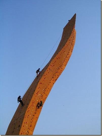 Mur d'escalade plus haut du monde