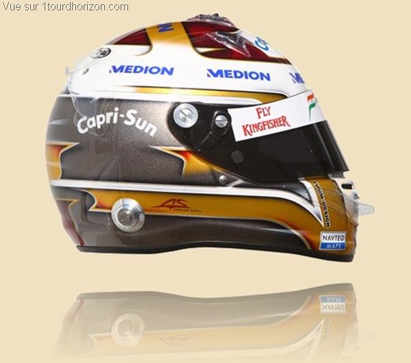Casque des pilotes de formule 1 - Adrian Sutil