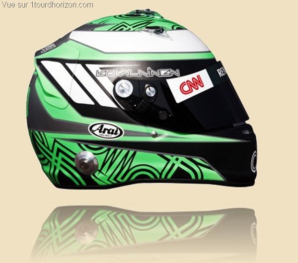 Casque des pilotes de formule 1 - Heikki Kovalainen