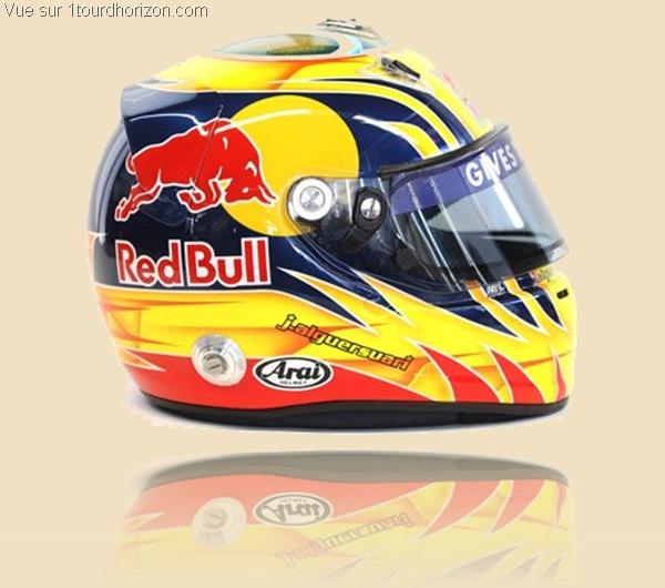 Casque des pilotes de formule 1 - Jaime Alguersuari