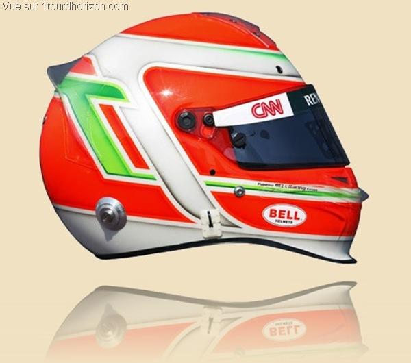 Casque des pilotes de formule 1 - Jarno Trulli