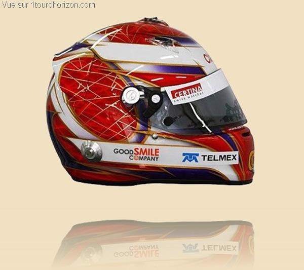 Casque des pilotes de formule 1 - Kamui Kobayashi