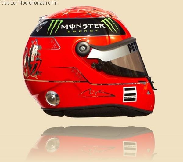 Casque des pilotes de formule 1 - Michael Schumacher