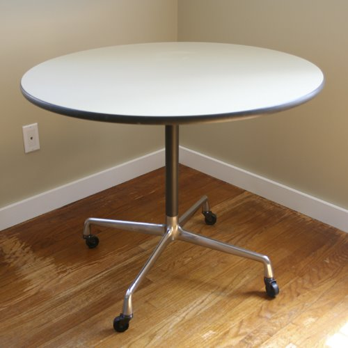 Object Name Round Table Series Eames Tables Universal Base Number Et 102 Designer Charles And Ray