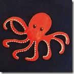 Large Red Octopus ArtTile from Choose2BHappy