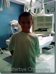 Caleb at hospital