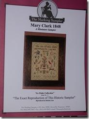 mary clark sampler