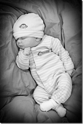 Cooper 1 month old 11202010 114 bw