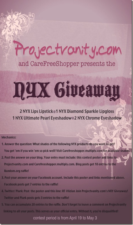 projectvanity.com contest