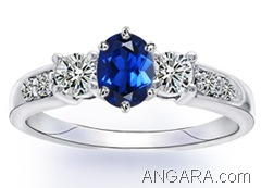 Lab-Created-Blue-and-White-Sapphire-Three-Stone-Ring-in-10k-White-Gold-(6X4-mm)_