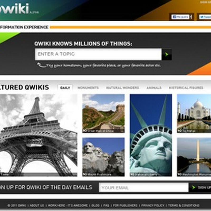 Qwiki buscador en formato multimedia