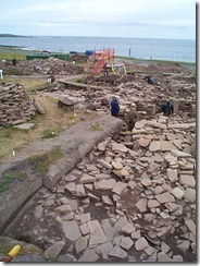 Archaeological dig at Shetland Island, July 2000