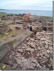 Archaeological dig at Shetland Island, July 2000