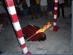 limbo with fire and cigarette