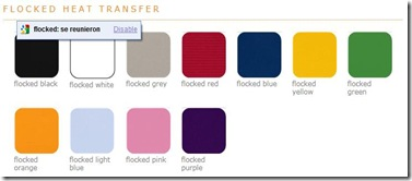 Flocked heat transfer colors