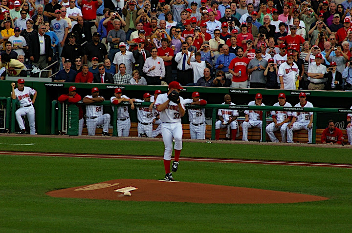 Strasburg's first pitch