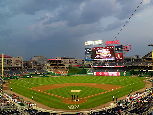 Storm clouds over the stadium