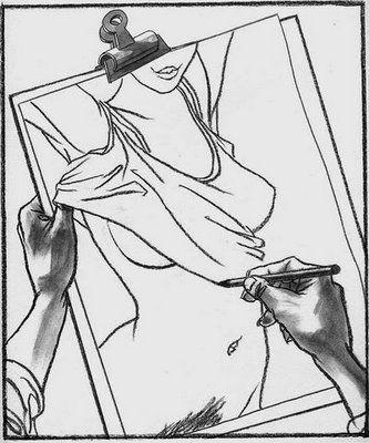 Ilusão de Óptica Desenho Erótico Mulher Bundinha