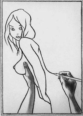 Ilusão de Óptica Erótica Desenho Mulher