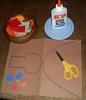turkey craft set-up