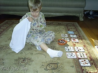 pillowcase counting game