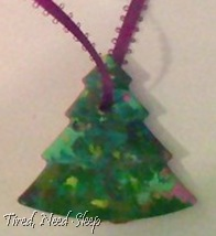 Finished crayon tree
