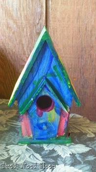 birdhouse, painted