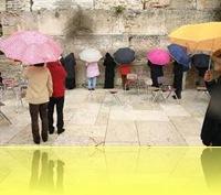 ISRAEL.WESTERN.WALL.RAIN