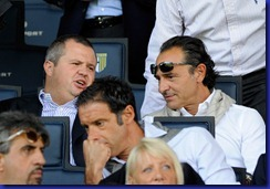 Tommaso Ghirardi e Cesare Prandelli - foto Claudio Villa Getty Images (Parma Genoa)