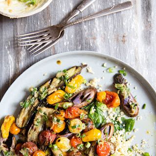 Grilled Eggplant + Roasted Tomatoes + Scallion Miso Butter