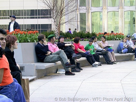 Tourists in Plaza WTC2