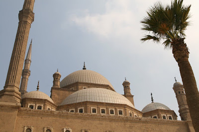 The roof of Muhammad Ali Mosque at the Citadel in Cairo, Egypt.