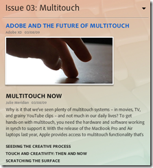 Adobe and the future of multitouch