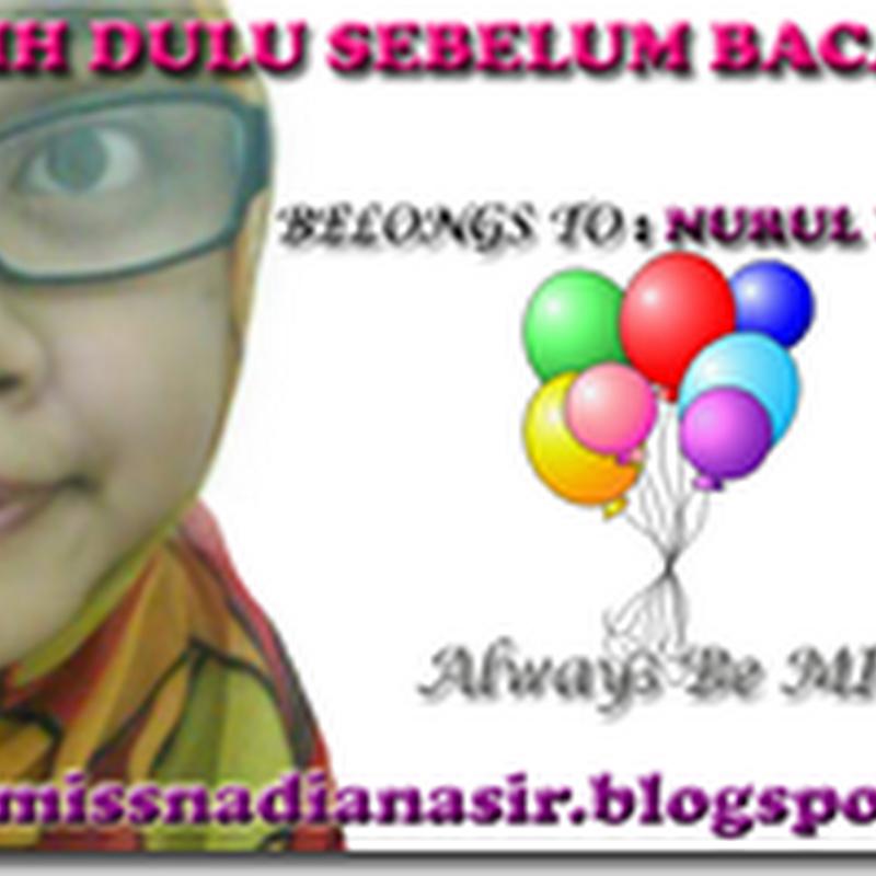 Header Blog Percuma Untuk Miss Nadia