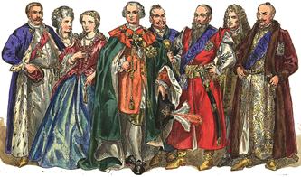 Magnates  de Polonia siglo 18