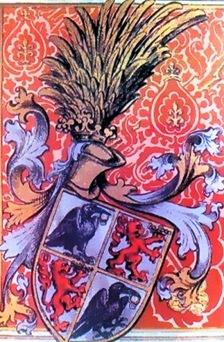 Blason de Juan Corvino, el Cuervo y el Leon de Conde de Beszterce