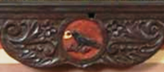 Blasón Korwin de la familia Kochanowski (nótese que se considera de poca importancia hacia dónde mire la figura, en la herádica polaca)