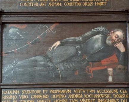 Retrato funerario de Andrés Kochanowski de Korwin (1542-1596)