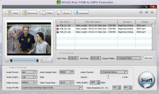 Download WinX Free VOB to MP4 Converter