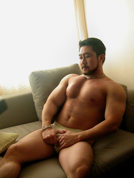 sun naked men asian